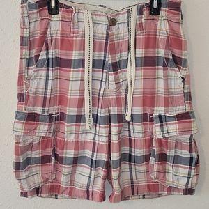VTG Abercrombie & Fitch plaid Cargo Shorts